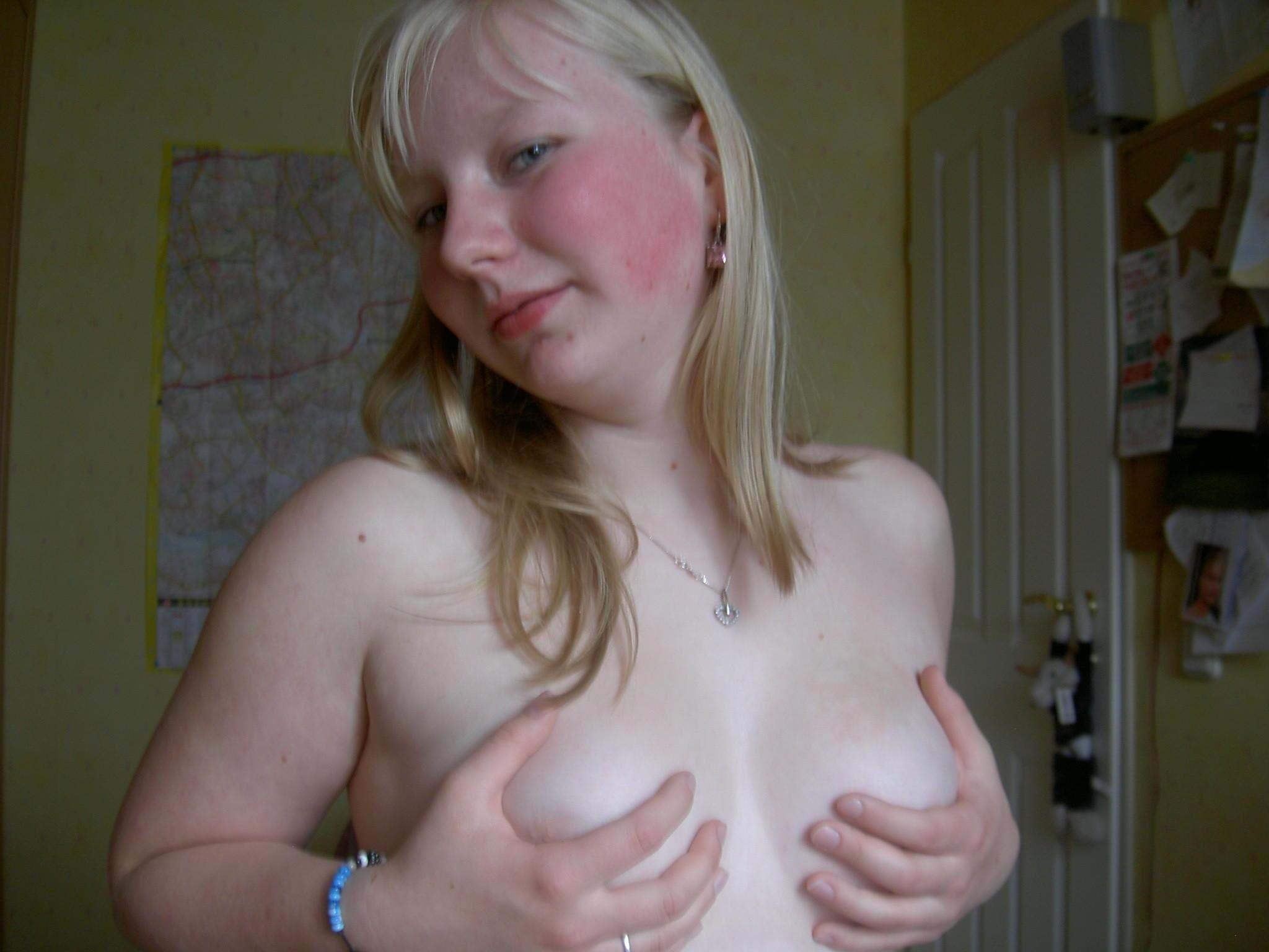nude busty slim brunette woman
